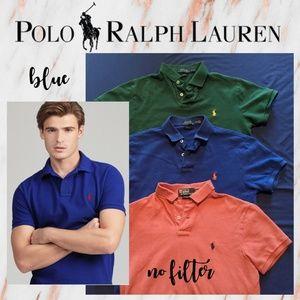 Men's Polo Ralph Lauren BLUE Custom Slim Fit Polo